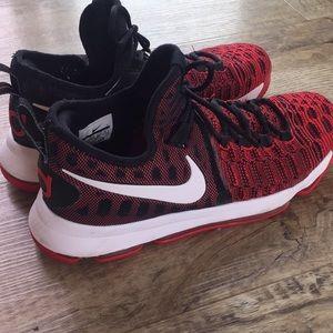 NIKE KD's! Nike Zoom KD 9GS Red/white/black